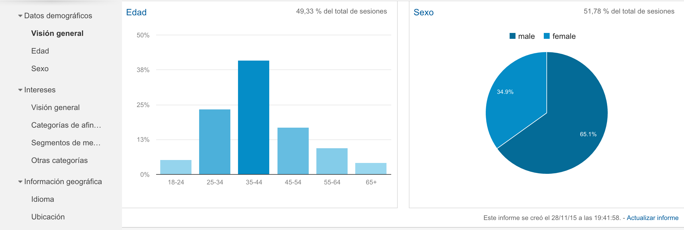 google analytics demografico