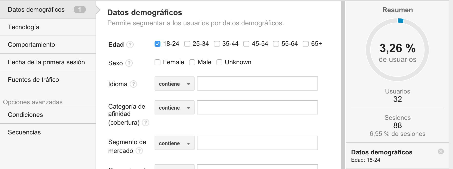 segmentos google analytics